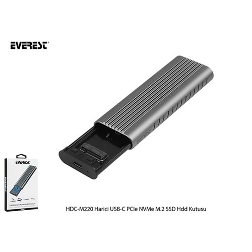 EVEREST HDC-M220 HARİCİ USB-C PCIe NVMe M.2 SSD HDD KUTUSU