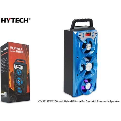 HYTECH HY-S21 12W 1200mAh USB/TF KART/FM DESTEKLİ BLUETOOTH SPEAKER