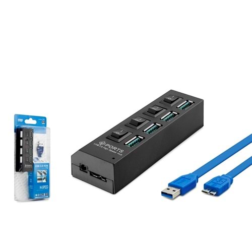 HADRON HD198 HUB USB 3.0 4 PORT